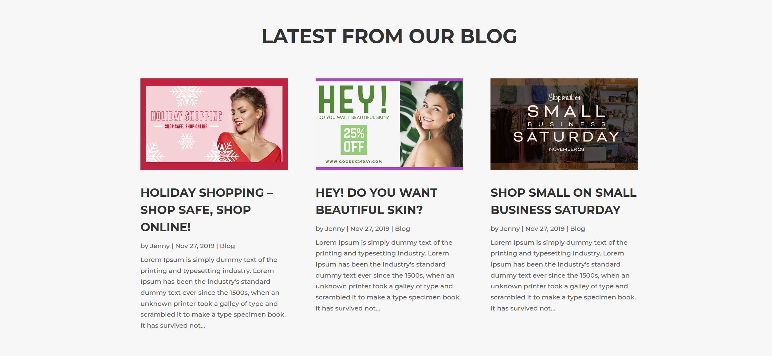 Website for Hairdressers v1 - Blog Posts