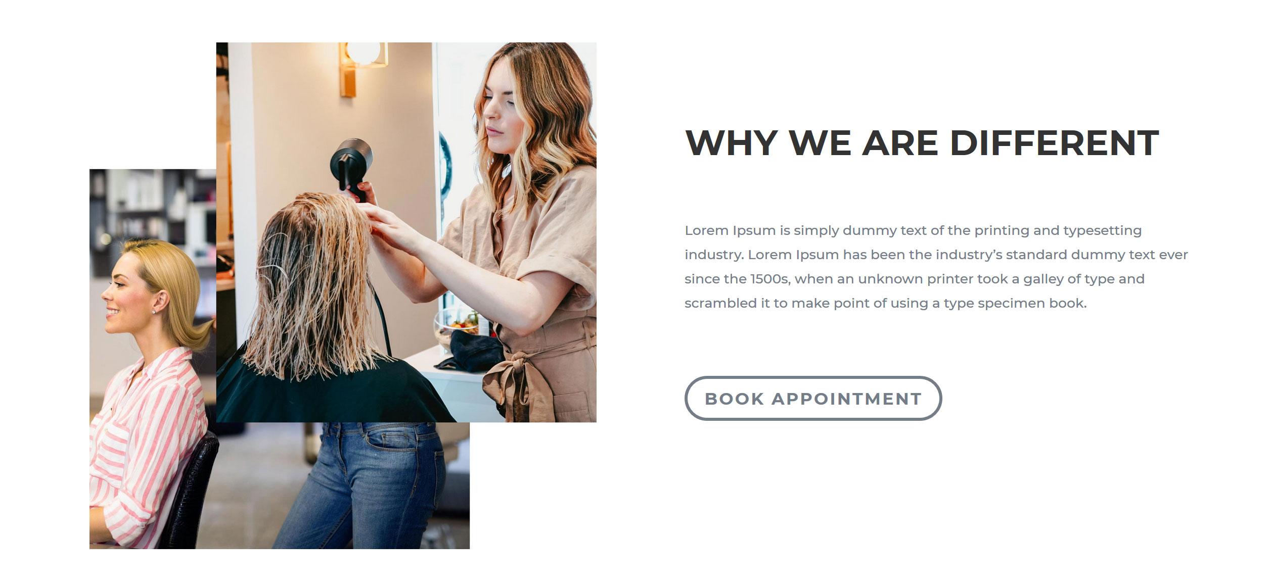 Website for Hairdressers v1 - Selling Points