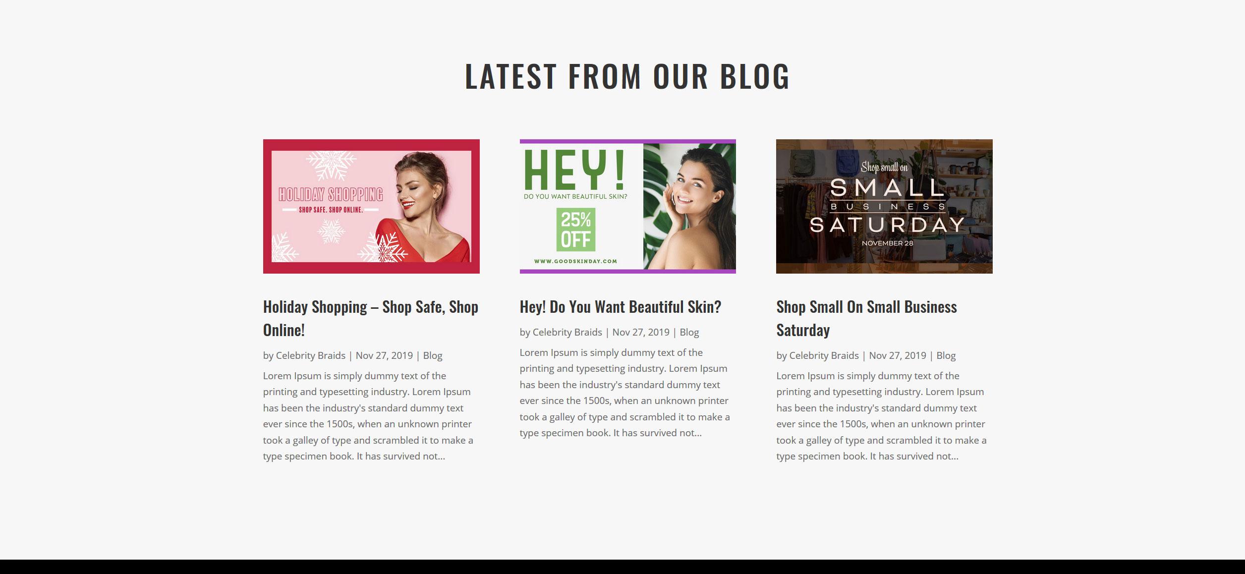 Website for Hair Braiding v1 - Blog Posts
