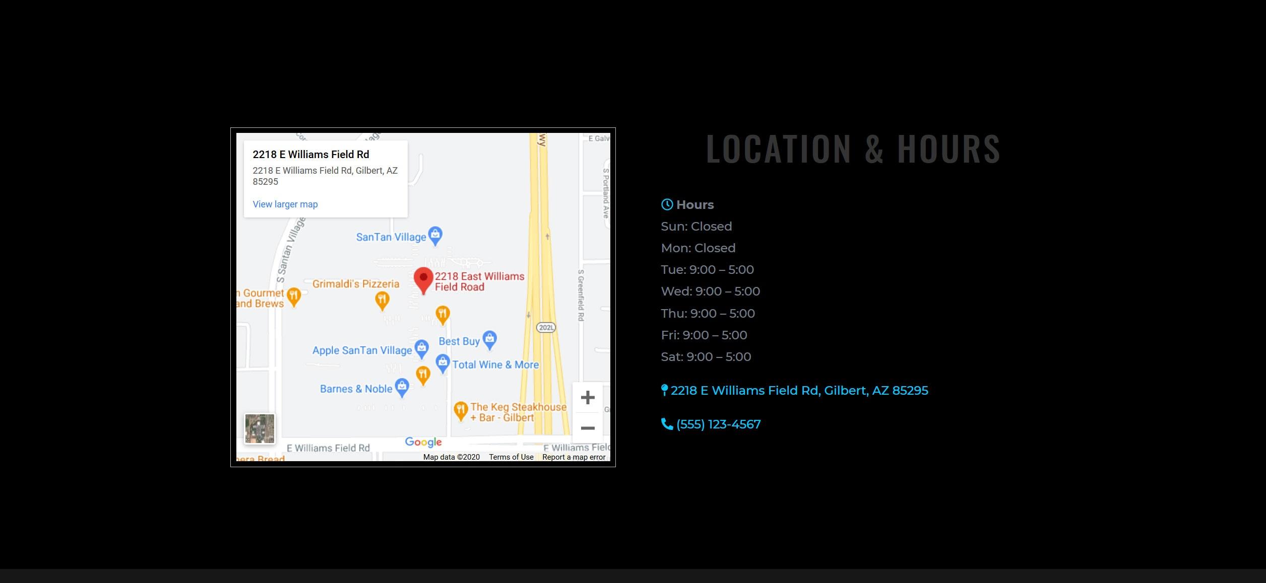 Website for Hair Braiding v1 - Location & Hours