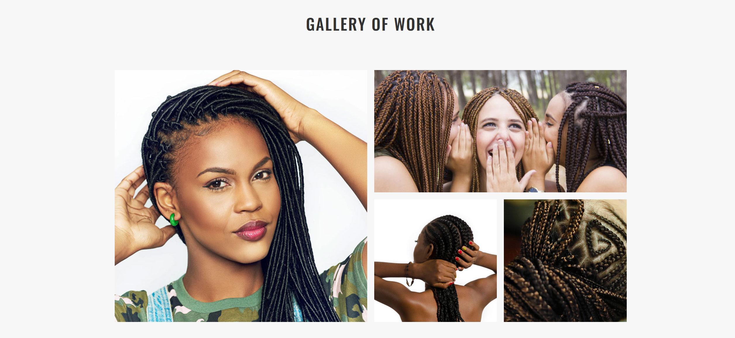 Website for Hair Braiding v1 - Portfolio of Work
