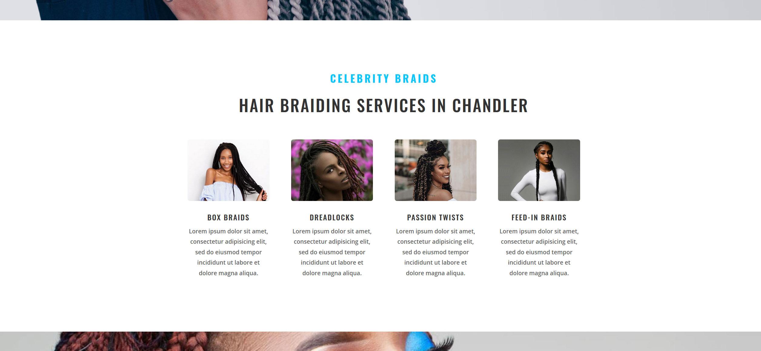 Website for Hair Braiding v1 - Services