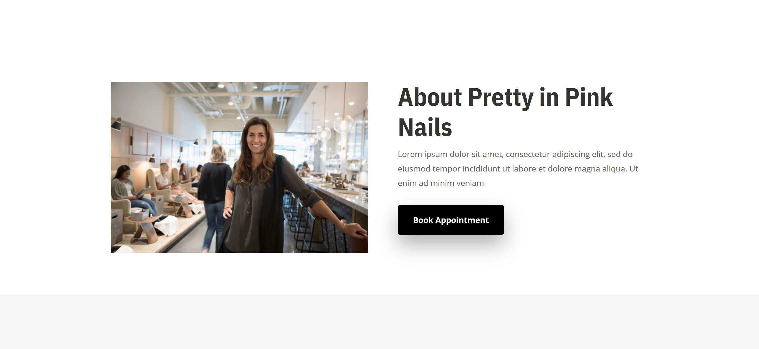 Website for Nail Salons v1 - About Info