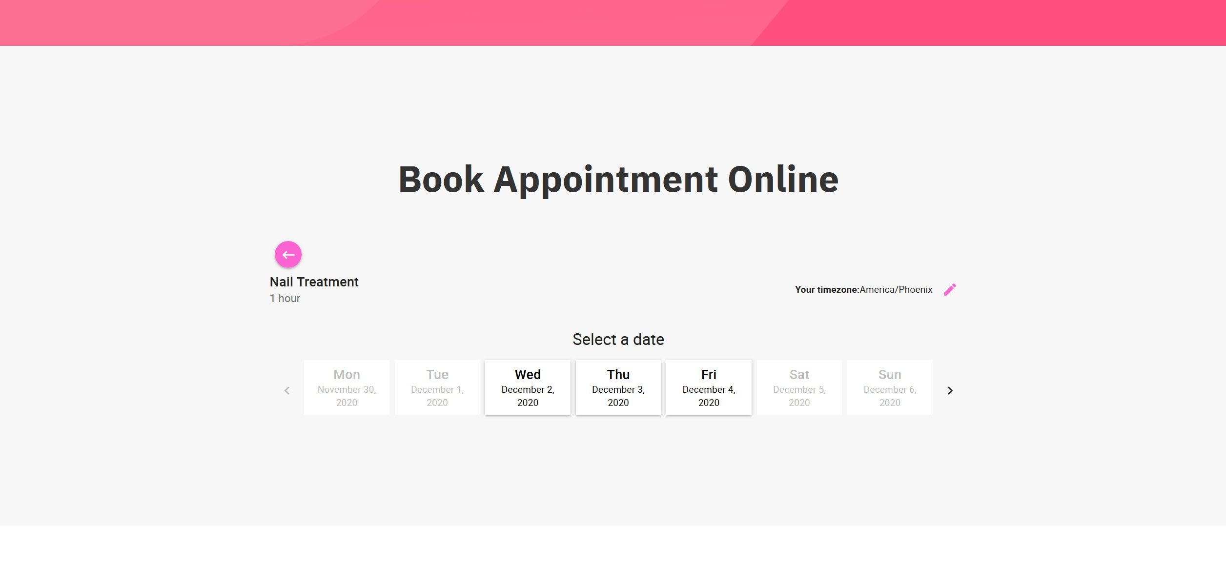 Website for Nail Salons v1 - Appointment Booking