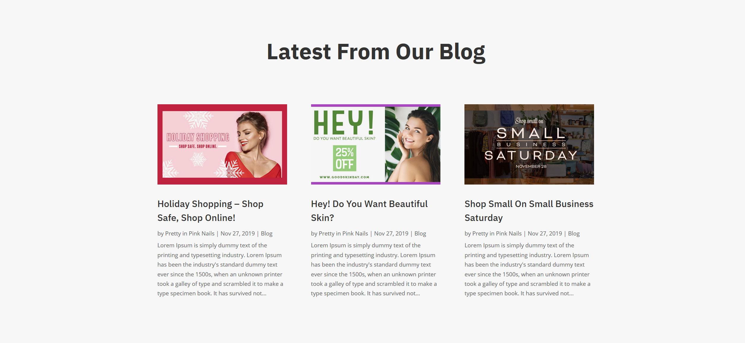 Website for Nail Salons v1 - Blog Posts