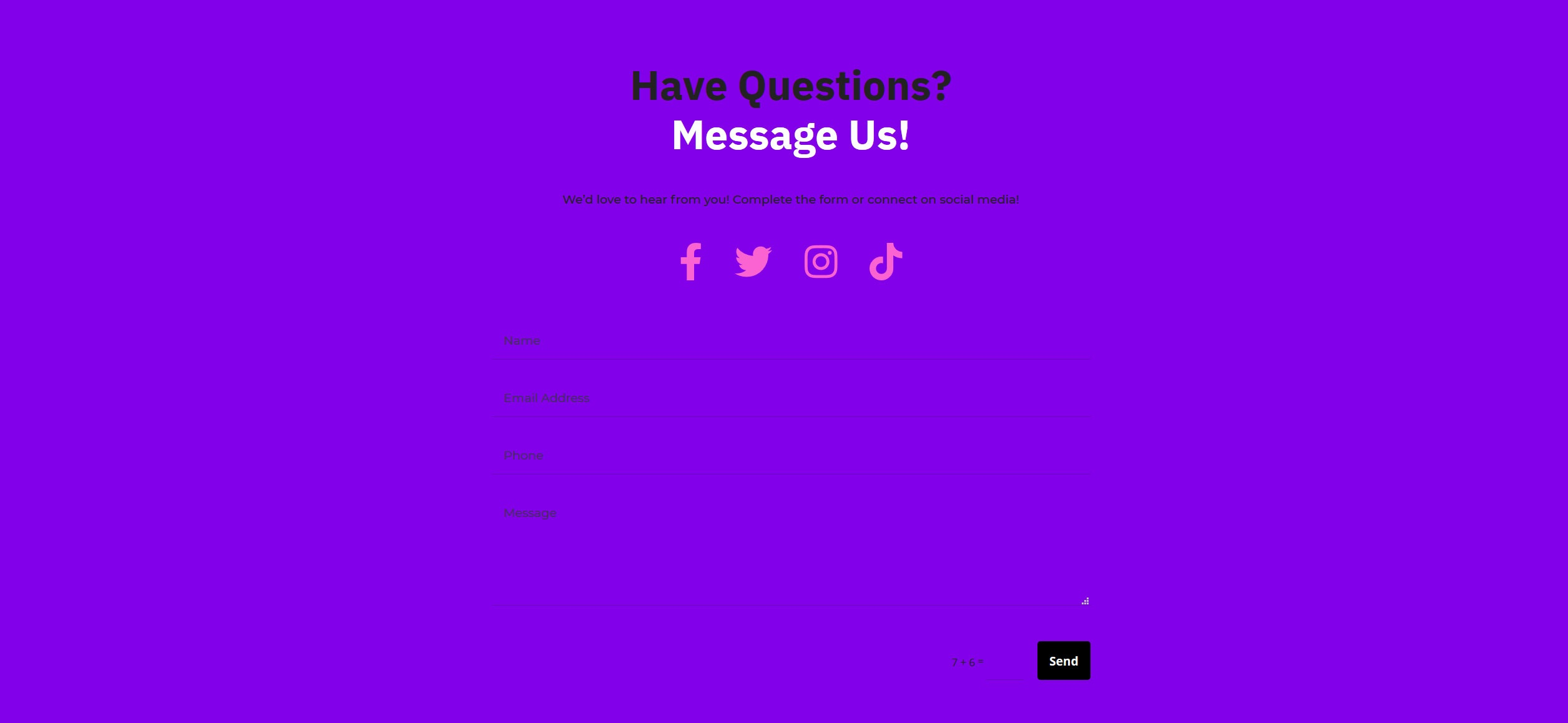 Website for Nail Salons v1 - Contact Form & Social Media