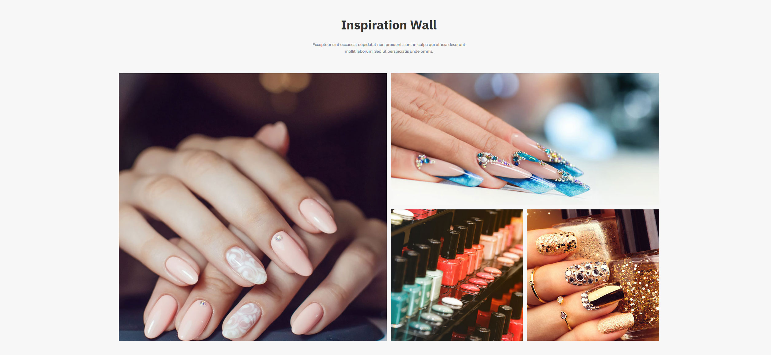 Website for Nail Salons v1 - Gallery of Work